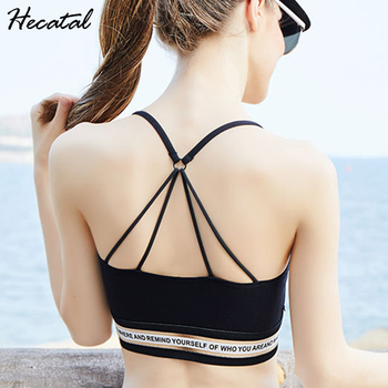 Hecatal 2019 Sexy Push Up Breathable Sports Bra Women Fitness Yoga Sports Bras Women Running Gym Padded Outdoor Seamless Top women running seamless padded sports bra vest female girls fitness workout gym tank top sexy racerback sports bras black white