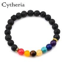 Beads Matt Lava Imperial Bracelets Women bead chain lucky Rock Stone Bead Buddha Skull Hamsa Hand charm  Elastic Thread bracelet