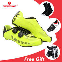 Sidebike Road Cycling Shoes Men Carbon Sapatilha Ciclismo MTB Mountain Breathable Bike Shoes Bicycle Zapatos Bicicleta Sneakers sidebike sapatilha ciclismo mtb cycling shoes men carbon mountain bike shoes anti slip zapatos bicicleta sneakers bicycle