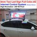 Из светодиодов полноцветный такси признаки, 102.4 см * 38.4 см дисплей площадь, 256 * 96 пикселей, Smd utral ясно, Поддержка 4 г сети, Adroid питания приложение