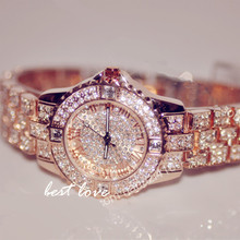 2017 Hot Sale Women Watches Luxury Lady Watch Woman Rhinestone Wristwatches Fashion Crystal Watches Gift Watch