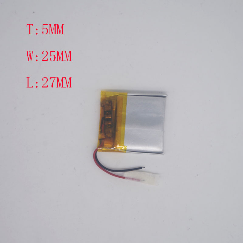 3.7 V lithium battery 502527/<font><b>502525</b></font> MP5 Bluetooth watch running recorder battery 220MAH image