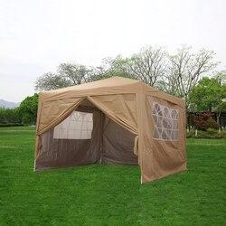 Wasserdicht 3x3m Pop Up Pavillon Festzelt Garten Markise Party Zelt Baldachin Arbor Easy Set-up mit träger Tasche