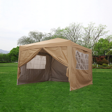 цены Waterproof 3x3m Pop Up Gazebo Marquee Garden Awning Party Tent Canopy Arbor Easy Set-up with Carrier Bag