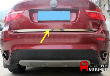 Stainless Steel Chrome Rear Gate Lid Cover Trim 1pcs Glossy For BMW X6 E71 2009 2010 2011 2012 2013 2014