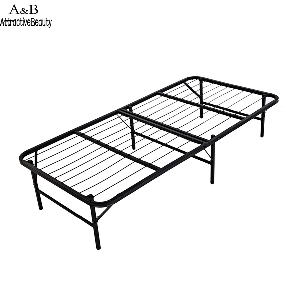 где купить Homdox Twin Size Metal Folding Platform Bed Frame Base Mattress Foundation Black N40A* по лучшей цене