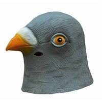 Милая маска голубя латексная гигантская голова птицы Хэллоуин Косплей Костюм театральный реквизит маски для вечеринки день рождения украш...