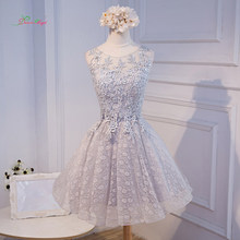 Dream Angel Elegant Lace Knee Length Homecoming Dresses 2018 Appliques  Beading Scoop Neck Short Special Occasion Dress For Party 20823eb40302