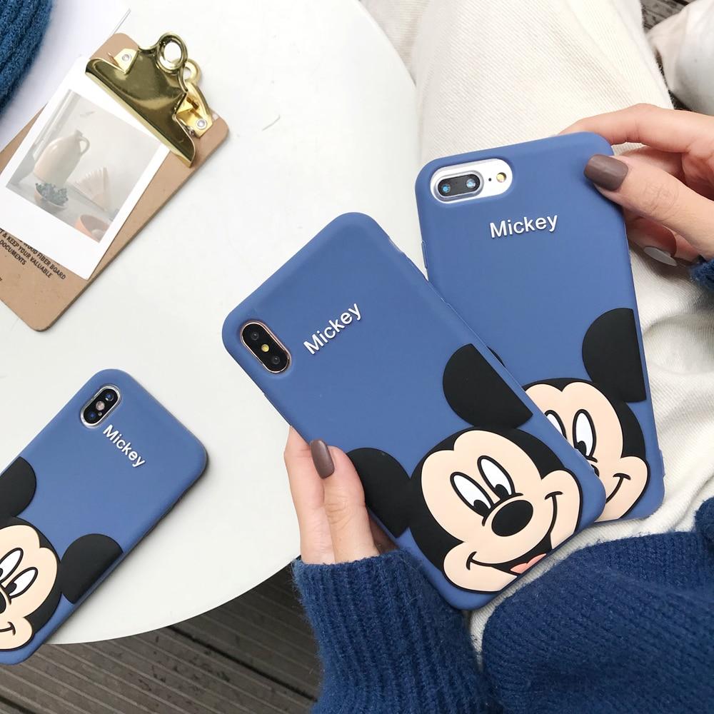 Модные силиконовый мягкий чехол в стиле 3D Микки Минни Маус для iPhone 6 6S 7 8 Plus X XS XR XS Max телефон случаях новый чехол резина