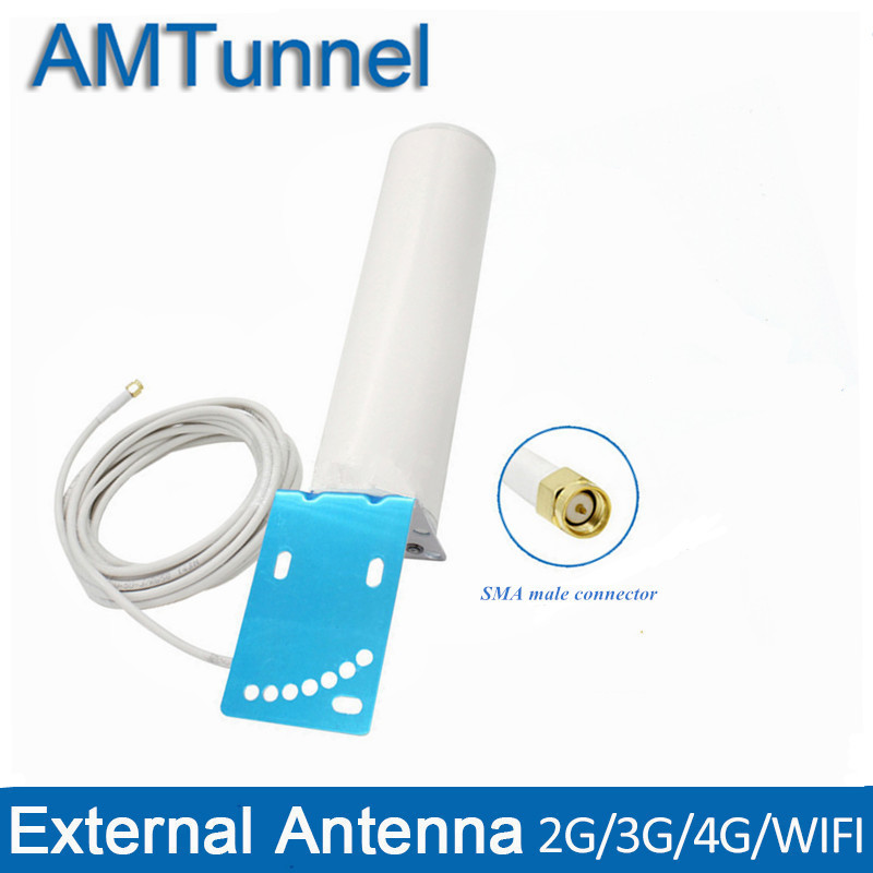 WiFi antenna 4G LTE outdoor antenna 3g 4g antenna 2.4GHz external antenne with 5m cable SMA male for repeater router 4g modem