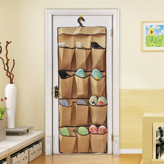 New Behind Door Wall Hanging Clothes Wardrobe Multilayer Shoes Bag Clear  Baseroom Living Room Storage Bag