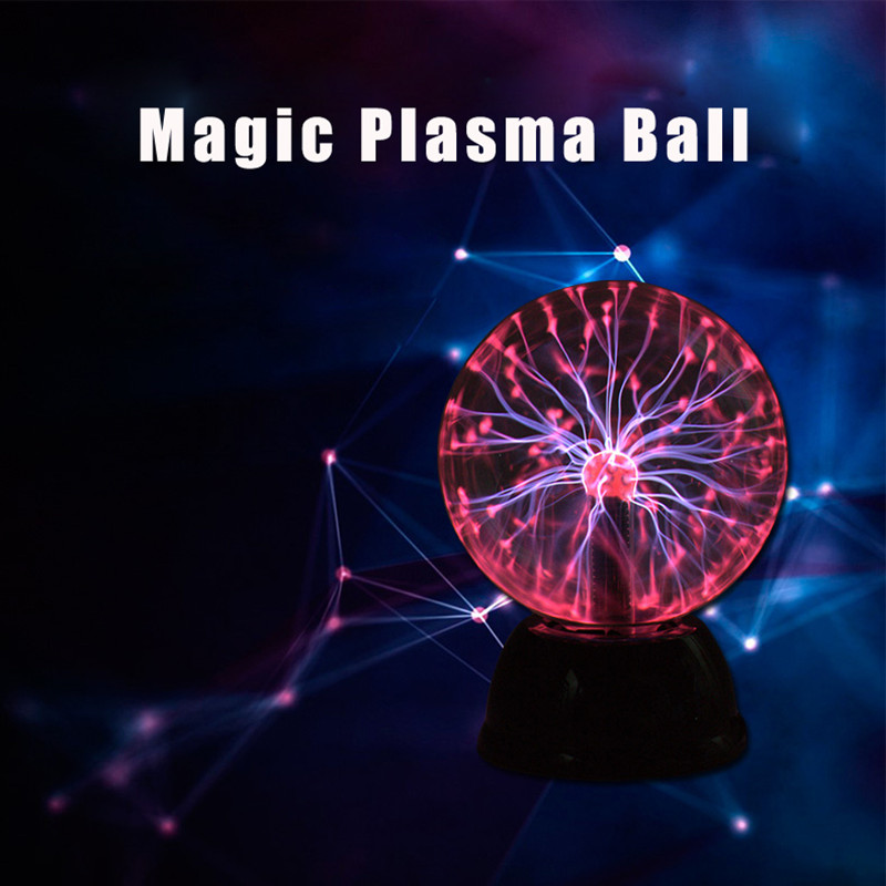 Creative LED Plasma Ball Lighting Magical lamp Night Lights New Year Christmas Gift For Kid Home Party Home Luminaria Decoration 30m 300 led 110v ball string christmas lights new year holiday party wedding luminaria decoration garland lamps indoor lighting