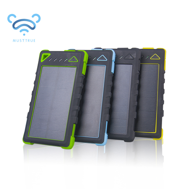 10000mAh Waterproof Solar Power Bank bateria externa Universal Charger powerbank Lithium-polymer battery for mobile phone