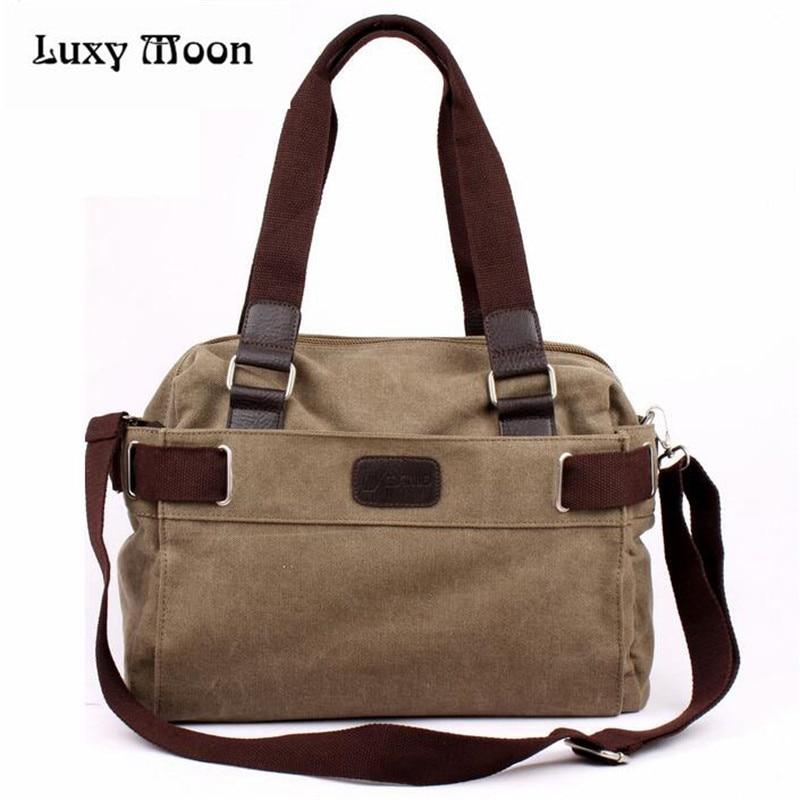 2017 Vintage bag Messenger Bag Mens Vintage Canvas School Military Shoulder Bag Retro Style For Man Canvas Handbag