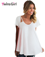 Blusas Femininas 2017 Summer New Fashion Plus Size Blouse For Women Cutout Cold Shoulder Flowy Top