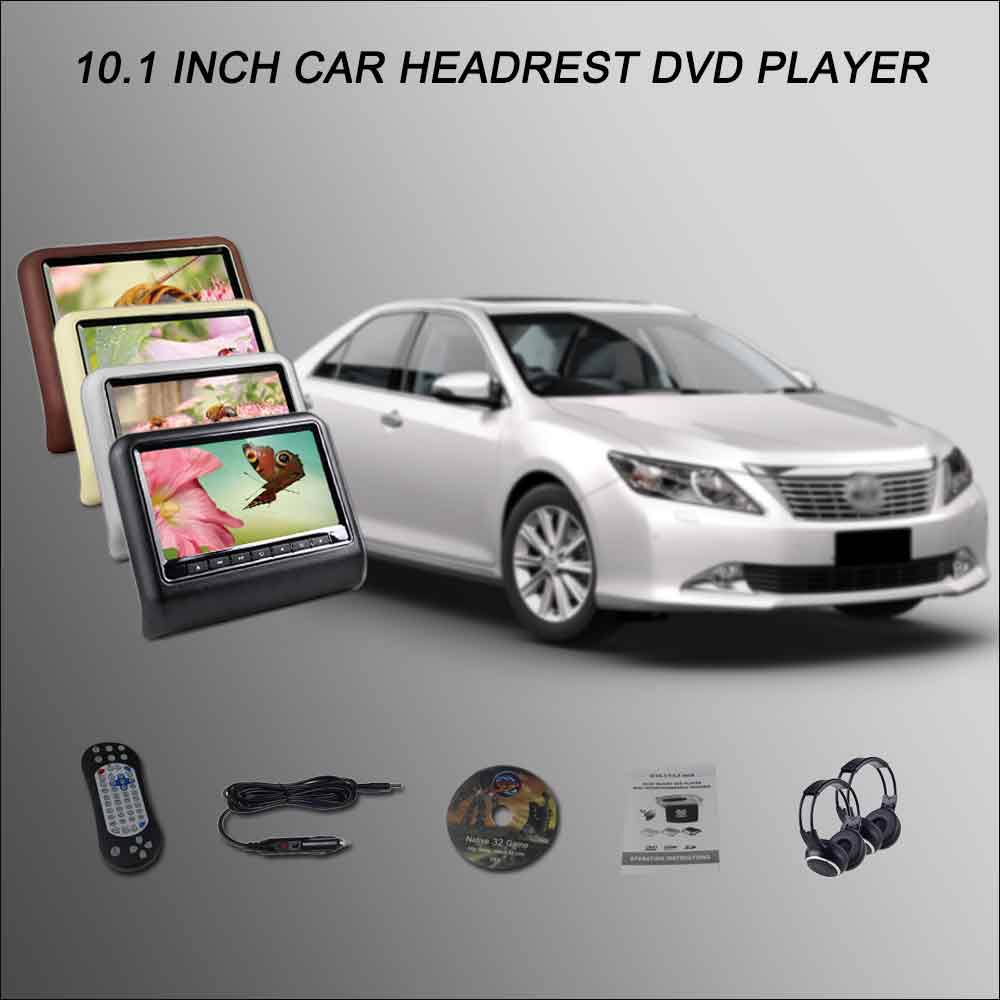 BigBigRoad For TOYOTA Aurion Car Headrest Monitor / 2*10.1 Digital ScreenSupport USB SD DVD Player Games Remote Control