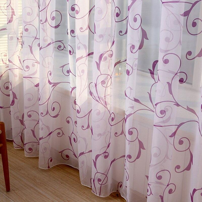 moderne gomtrique imprim tulle rideau chambre salon tulle sheer rideau - Chambre Hopital Moderne