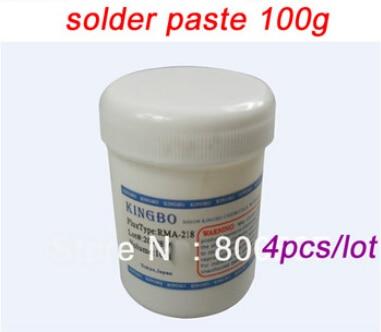 4 pcs/lot 100G Japan KINGBO RMA -218 No-Clean BGA Reballing Repair Solder Soldering Flux,solder paste free shipping 3pcs rma 218 solder paste 100g in stock