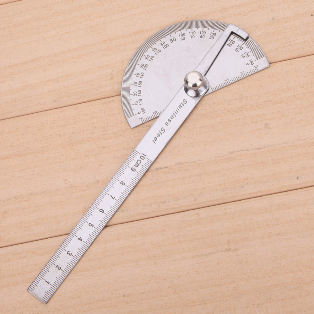 Obrotowa linijka pomiarowa ze stali nierdzewnej 180 stopni Kątomierz - Przyrządy pomiarowe - Zdjęcie 2