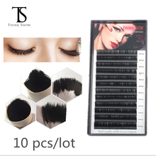 Thinkshow 10 trays Faux Mink Individual Eyelash Extension B/C/D Curl Extended Lashes Pro Soft False Eyelashes Cilia