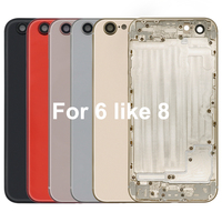 New Housing for iPhone 6 but like 8 Aluminum+Glass Battery Back Cover with Side Button Sim Tray Free Shipping Tools