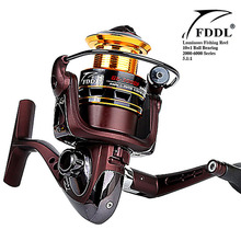 Hot Sale Super Technology Fishing Reel 10BB + 1 Bearing Balls 2000-6000 Series Spinning Reel Boat Rock Fishing Wheel