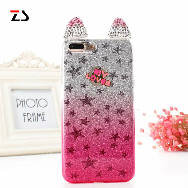 Women lovely Call flash case cover for iphone 6 6S 7 plus Silicone luxury rhinestone  bling diamond covers for iphone 6 6s 7 case 93c1effbef