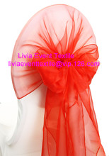 100pcs High Quliaty #29 Red Organza Cover Hood 78x178cm  For Wedding Event &Party Decoration