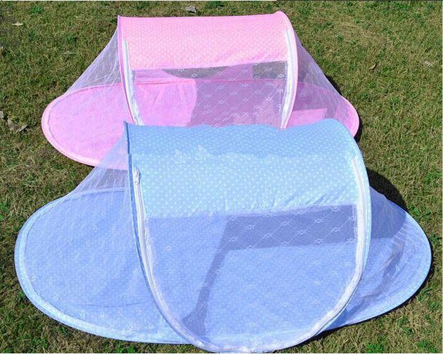 Детские кроватки с противомоскитной сетки симпатичные портативный детская кровать 110 * 60 см детей постельных принадлежностей складной детской кроватки с подушкой детская кроватка каваи