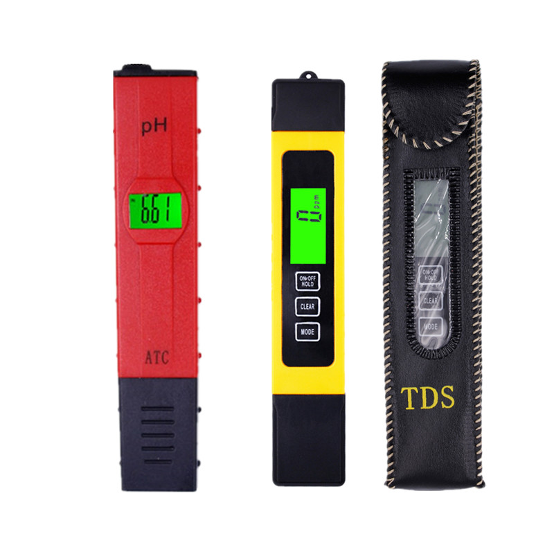 LCD Digital 0.01 PH Tester Meter + Titanium alloy probe EC Meter Hydroponic Pool Pen design aquarium with backlight 20% OFF