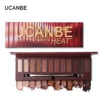 UCANBE Brand New 12 Colors Molten Rock Heat Eye Shadow Makeup Palette Shimmer Matte Nude Brown