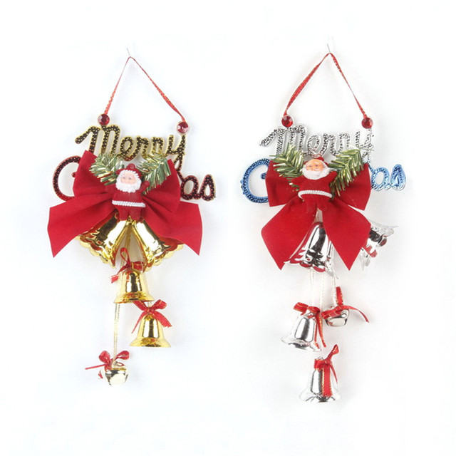 New Christmas English Sign Bell String Pendant Xmas Door Hangings Plastic Gold Silver Christmas Supplies Christmas  sc 1 st  AliExpress.com & New Christmas English Sign Bell String Pendant Xmas Door Hangings ...