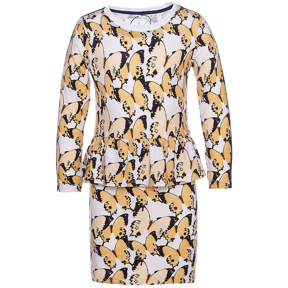 NAME IT Dresses 10624780 Dress girl children checkered pattern collar fitted silhouette sequins Viscose Casual Multi Short Sleeve stand collar golden dragon pattern long sleeve men s padded coat