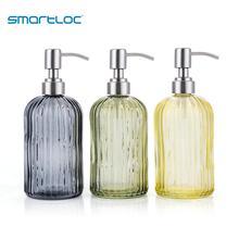 Smartloc 600ml Glass Hand liquid Soap Dispenser Pump Shampoo Bottle Shower Gel Storage Box Kitchen Sink Bathroom Accessories Set