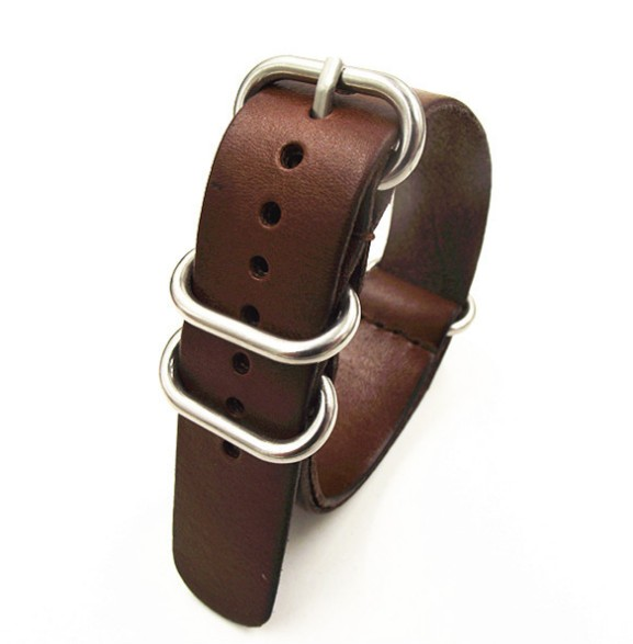 Wholesale 10PCS/lot High quality 22MM Nato strap genuine leather coffee color Watch band NATO straps zulu strap watch strap-0212 wholesale 10pcs lot 18mm 20mm 22mm 24mm nato strap genuine leather coffee color watch band nato straps zulu strap watch straps