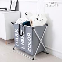 SHUSHI Горячая водостойкая складная корзина для белья Оксфорд три сетки мешок для белья сумка большой складной металлическая корзина для белья