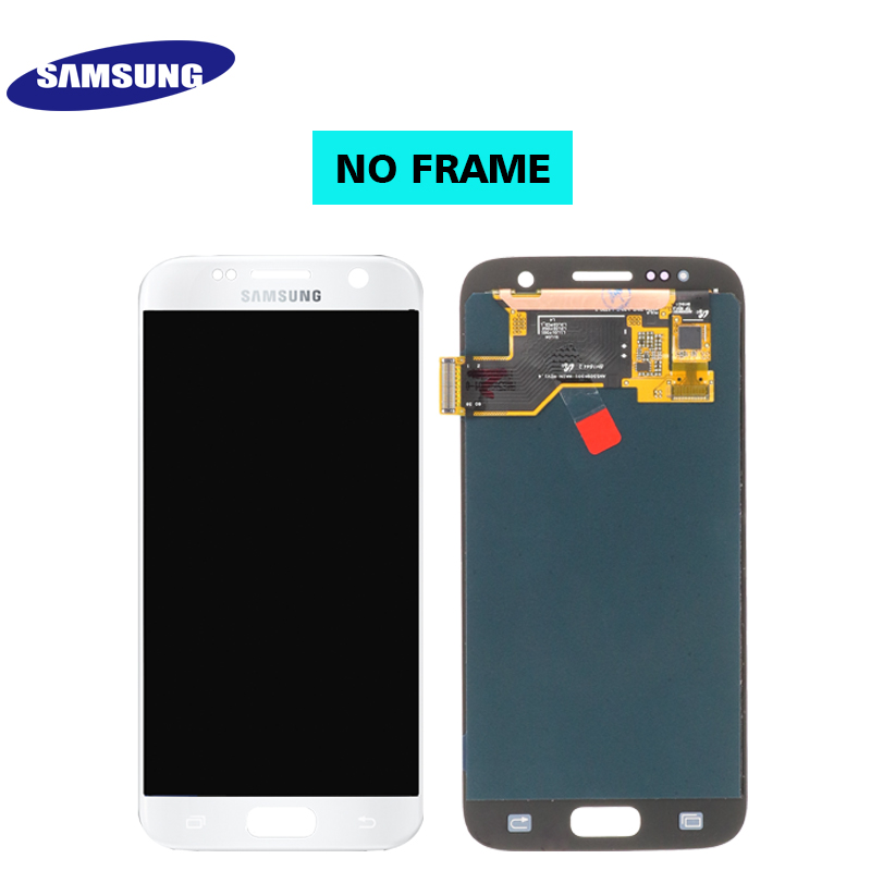 HTB1Cg75S9zqK1RjSZFjq6zlCFXa3 ORIGINAL 5.1'' SUPER AMOLED LCD For Samsung Galaxy S7 G930 SM-G930F G930F LCD Display With Touch Screen Digitizer Replacement