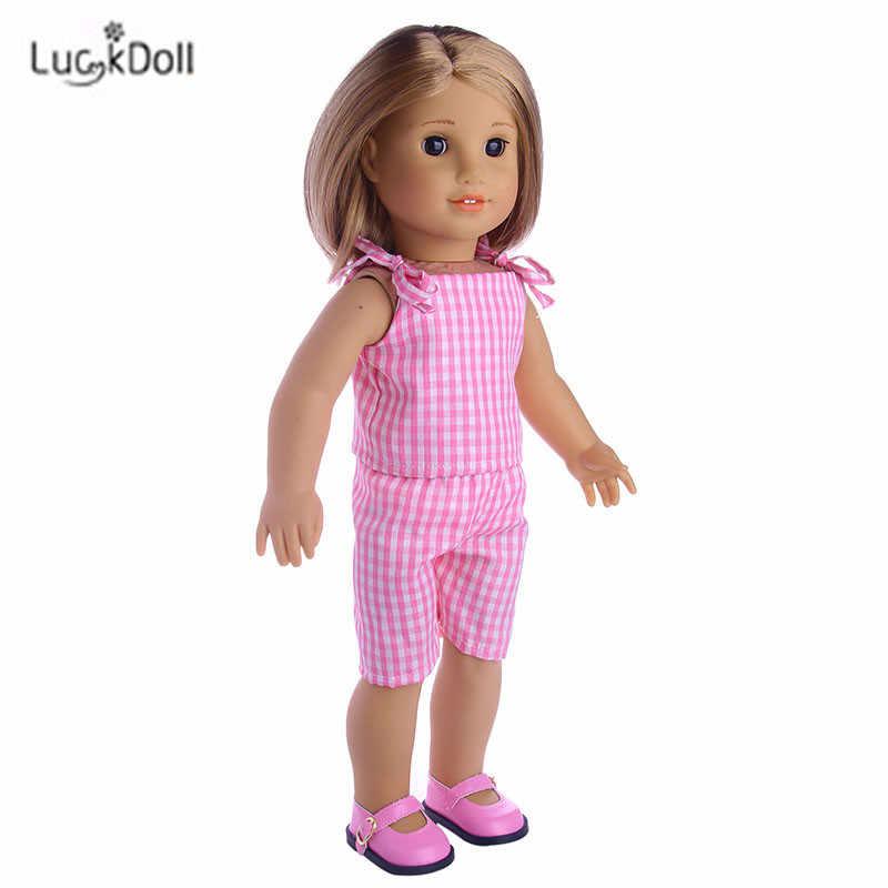 دمية موضة الصيف فستان وردي مناسبة 18 بوصة الأمريكية 43 سنتيمتر ملابس دمى الطفل اكسسوارات ، الفتيات اللعب ، جيل ، هدية عيد ميلاد