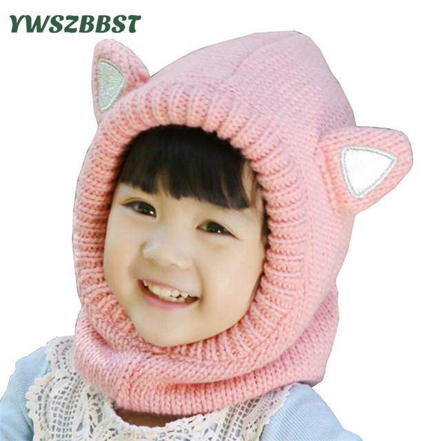 cce9714dc9edc New Winter Children Hat with Scarf Crochet Kids Hat Baby Cap Baby Hat for  Girls Boys