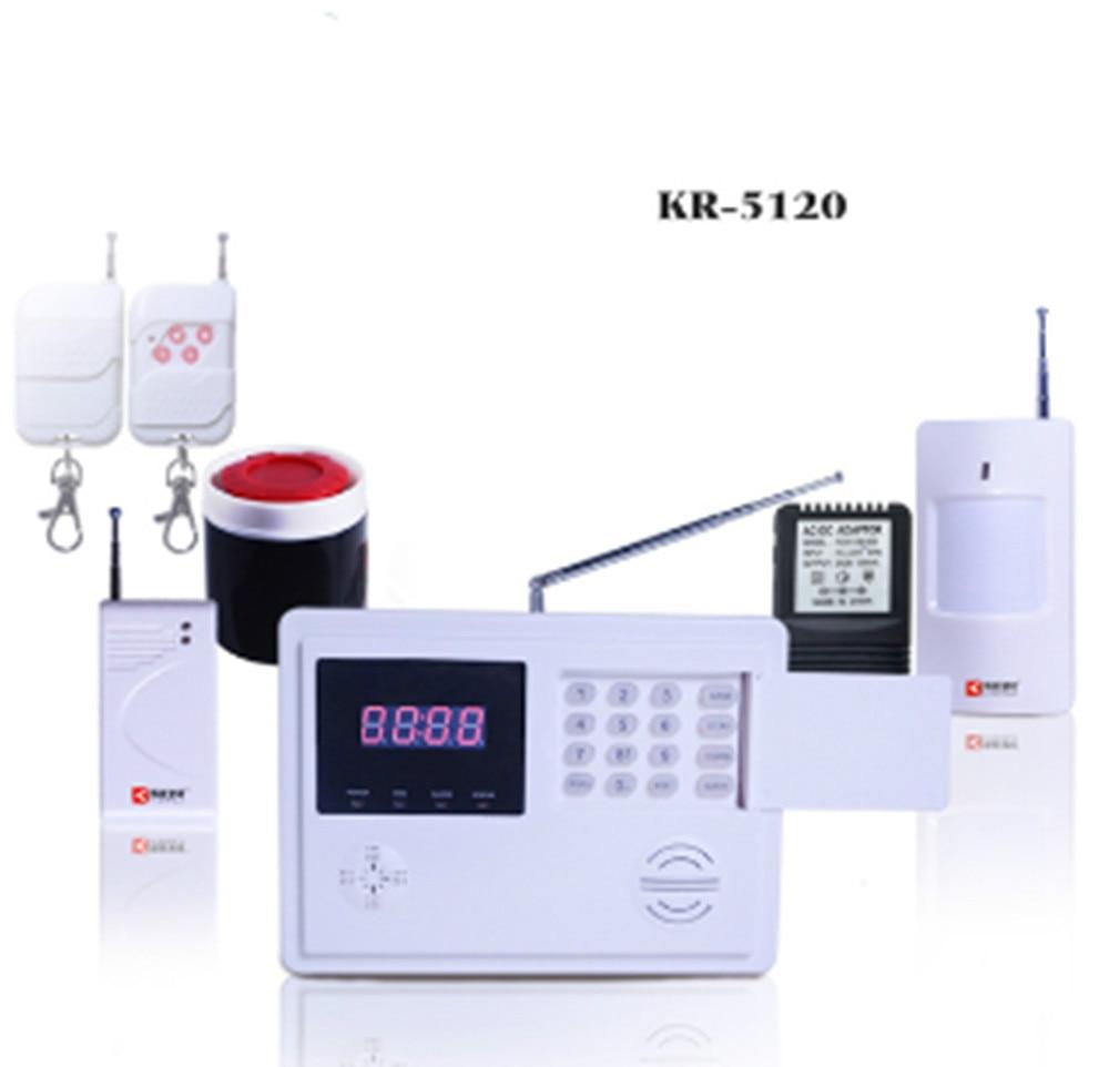120-Wireless Zones Burglar Alarm System PSTN Alarm Digital Clock Display digital clock display gsm burglar alarm system 120 wireless defense zones and 2 wired zones