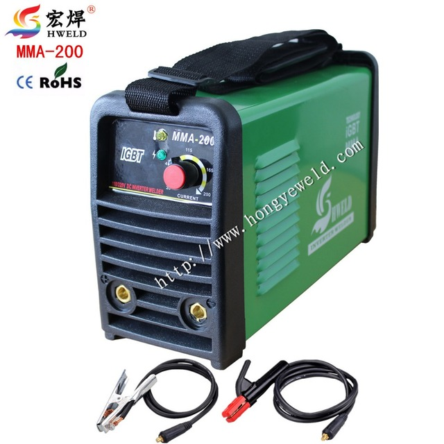 Inverter Weld  Welding Inverter Red 220v Input Protable Inverter DC IGBT MMA200 Welding Machine With Accessories