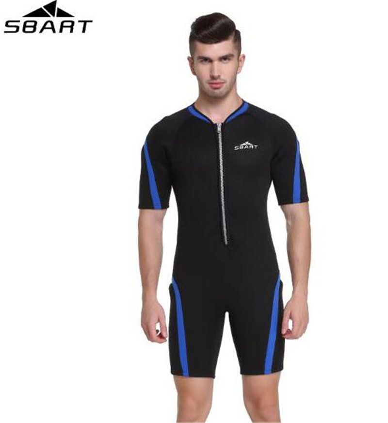 SBART Men 2MM Neoprene Wetsuit Snorkeling Surf One piece Suit Diving Equipment Short Wetsuits Underwater Hunting