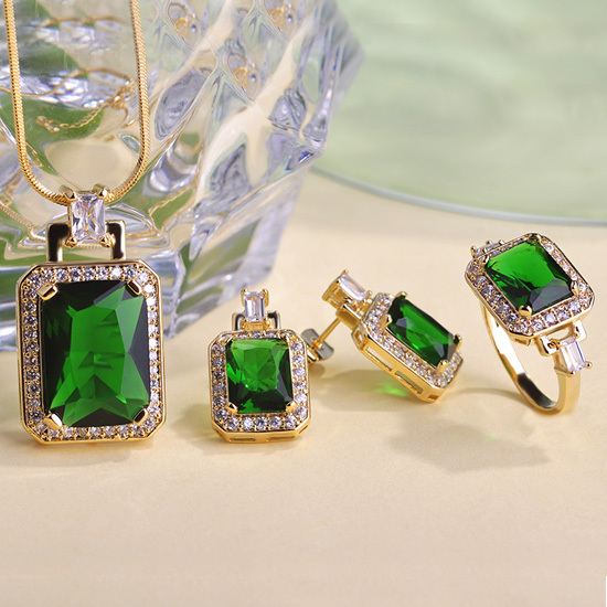 Image result for emerald jewellery sets