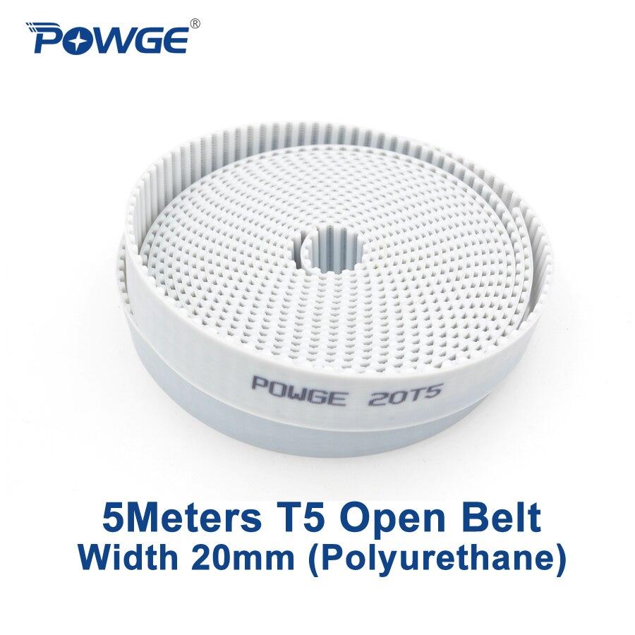 T10 Open-ended PU Timing Belt 20//25//30mm Width White Polyurethane Belt