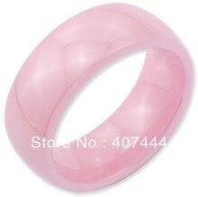 Бесплатная Доставка Купить Дешевые Цена 2013 США Горячий Продавать 8 ММ Купол Розовый Цвет Керамической Кольцо Его/Ее Классический Обручальное Кольцо