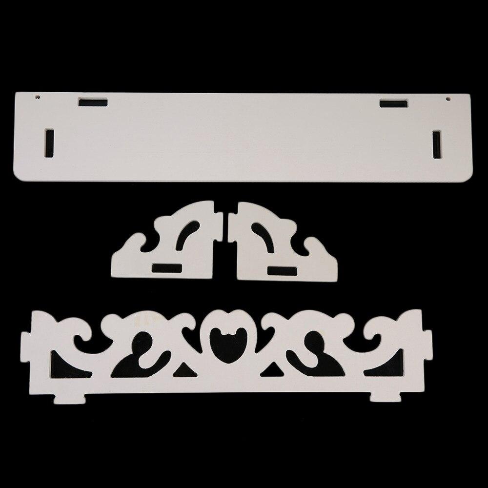 1 шт. прочный белый деревянный резной полка настенная Дисплей висит стеллаж для хранения M модель дома Аксессуары