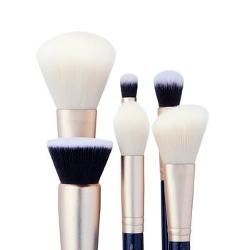 Jessup 6PCS Prussian Blue / Golden Sands Makeup brushes set LARGE POWDER FOUNDATION CONCEALER for face Make up brush 2