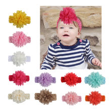 New Children's Diy Flower Hair Band Lace Flower Elastic Hair Band Baby Simple Hair Accessories for Photo Shoot(China)