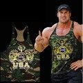 2016 Novo Ginásio Singlets roupas de Camuflagem Tanque Tops Camisa dos homens Musculação Equipamentos de Fitness Ginásio Ouros Longarina WAIBO URSO