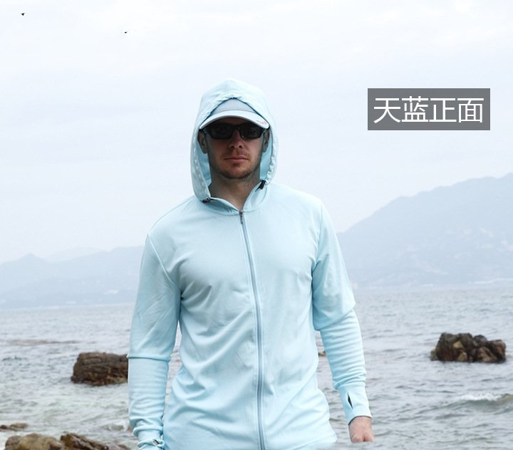 Sun Sets male Shi Xia ultra-thin breathable UV clothes sun